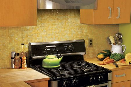 how to install a glass mosaic tile backsplash