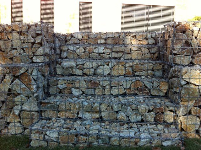 gabion stairs gardening out side idea 39 s pinterest