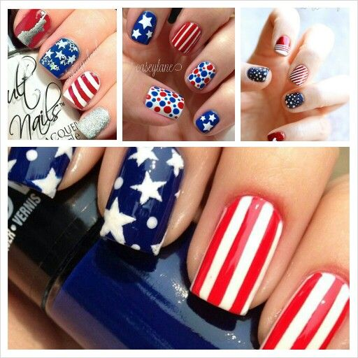 Pin by quinn bertucelli on nail art inspiration pinterest for 4th of july nail art decoration flag