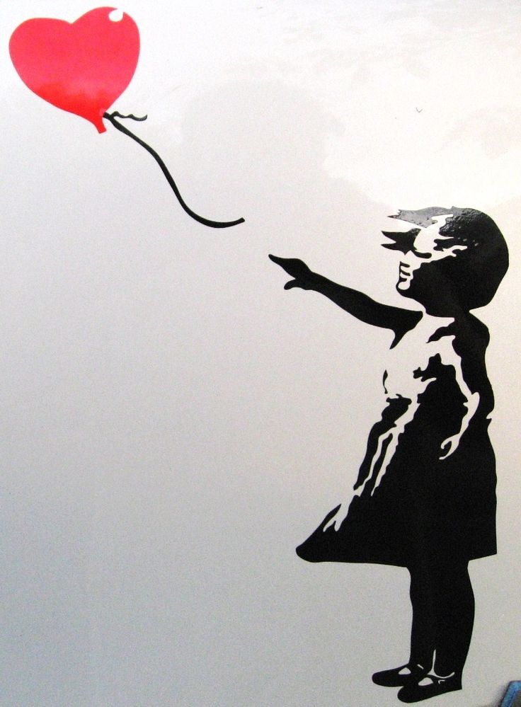 balloon girl by banksy graphic design logo 39 s pinterest. Black Bedroom Furniture Sets. Home Design Ideas