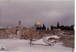 Jerusalem in snow!