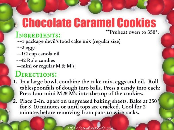 Chocolate caramel christmas cookies for Easy holiday cookies and candy recipes