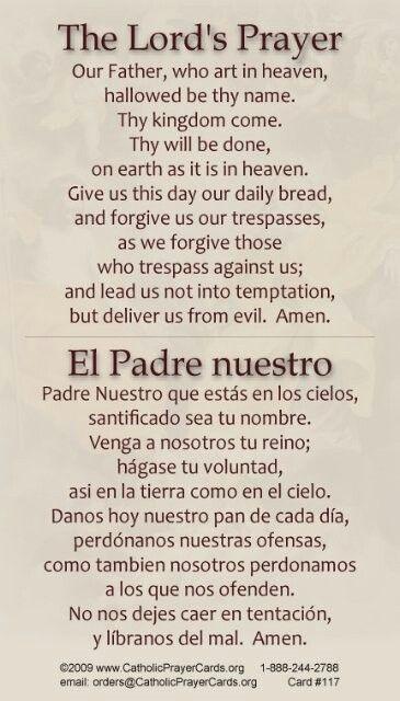 The lord s prayer el padre nuestro