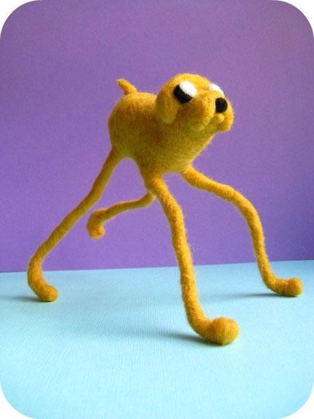 Jake From Adventure Time Needle Felted