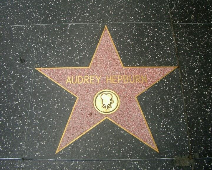 audrey hepburn hollywood walk of fame pinterest