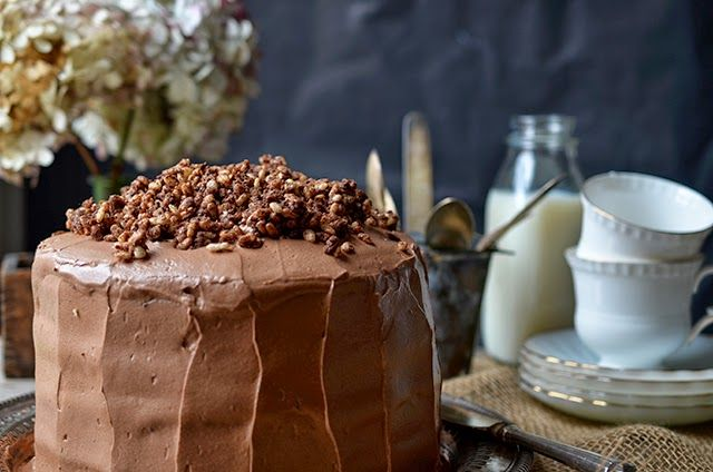 Devils' Food Cake with Hazelnut Crunch | Shit I Want To Try | Pintere ...