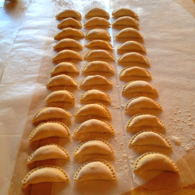 My 1st time making potato & cheese pierogies by myself for Easter ...