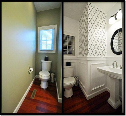 Reader redesign ka powder room for Redesigning a bathroom