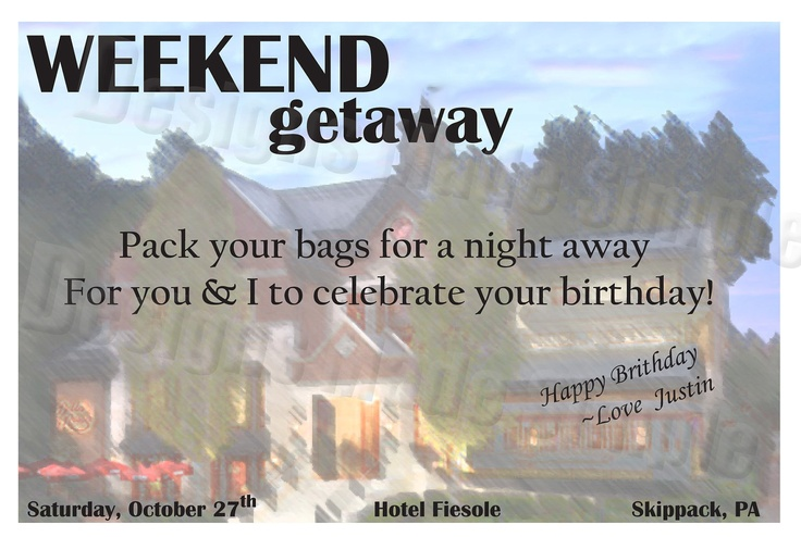 Pin by erin foley on lauren 39 s etsy store pinterest for Get away for the weekend