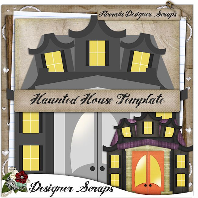 Haunted House Template | Commercial Use Clipart To Buy | Pinterest
