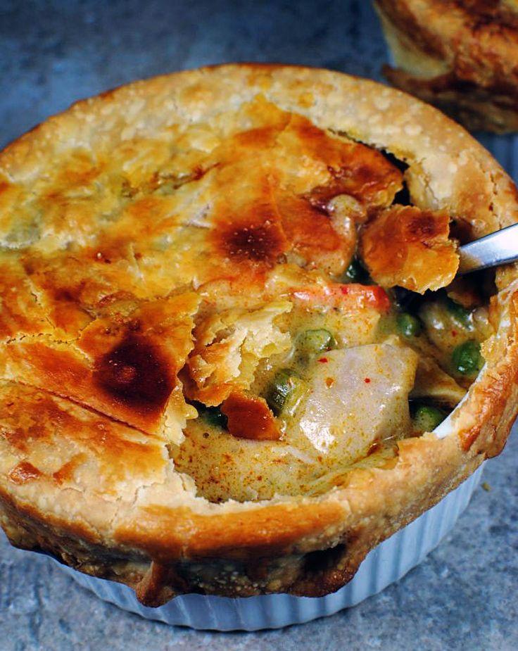 Curried Chicken Pot Pie Recipe — Dishmaps