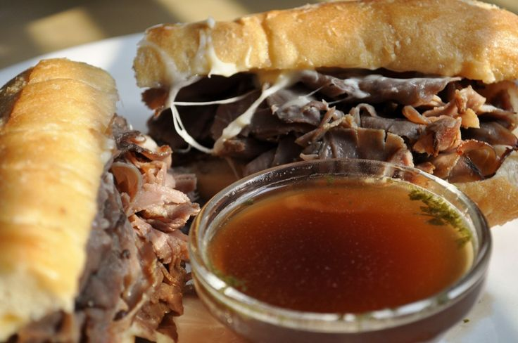 Cheesy French Dip Sandwich | Main dish ideas | Pinterest