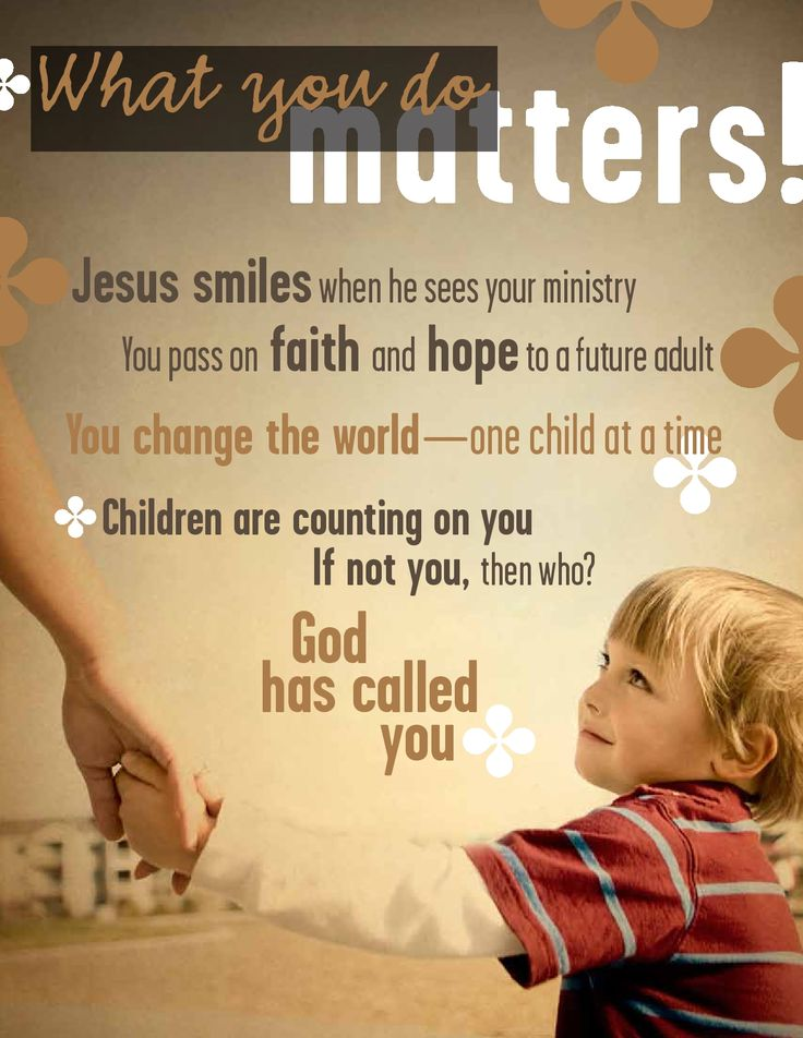 thank you to all of you who work in children 39 s ministry