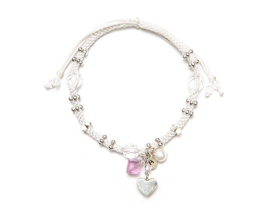 Crochet Bracelet with Semi-Precious Stones ATRipelago beautiful designs here, for sale