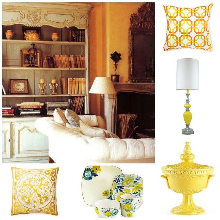 Interior design presenting artistic decoration stunning yellow