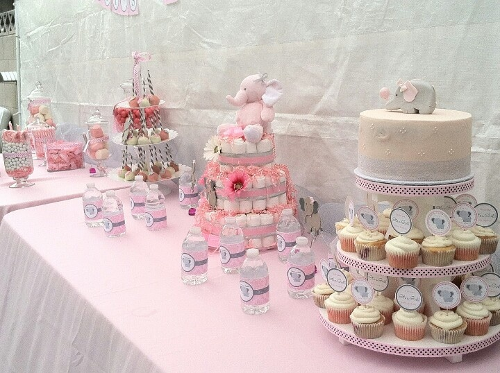 cute elephant baby shower pink and grey baby shower pinterest