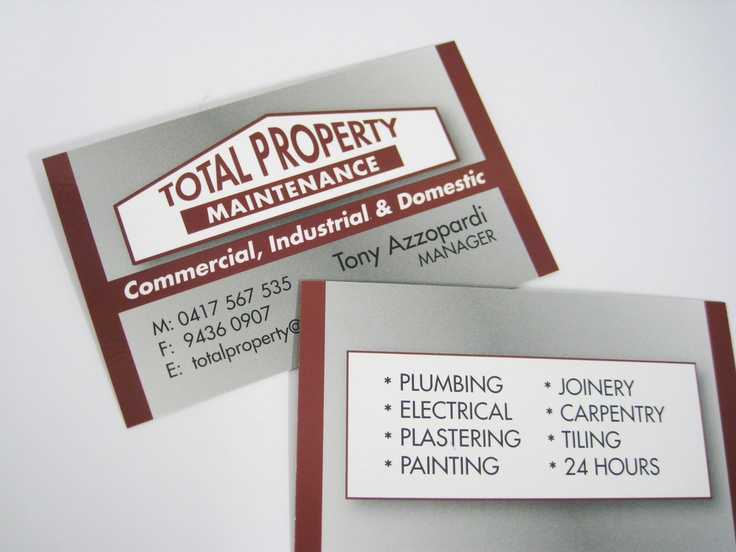 Pin by minuteman press epping on business cards pinterest for Property maintenance business cards