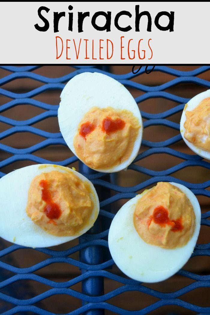 Sriracha Deviled Eggs. | Appetizers | Pinterest