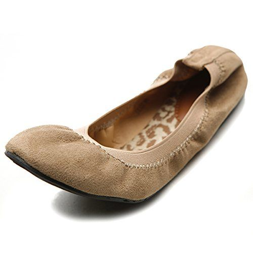 Ollio Women's Ballet Shoe Cute Comfort Faux Suede Multi Color