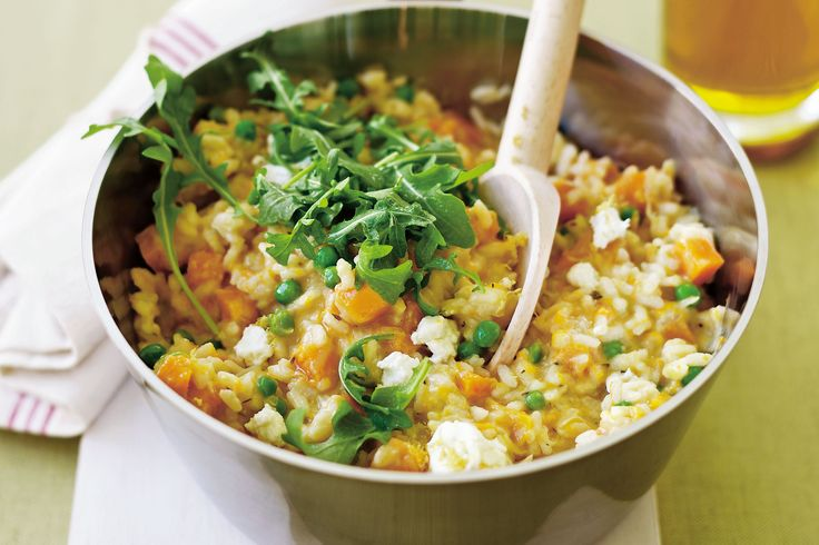 Pumpkin goat cheese Risotto