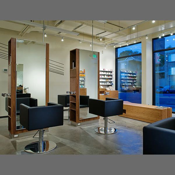 Blue modern salon interior design salon interiors for Photo salon design moderne