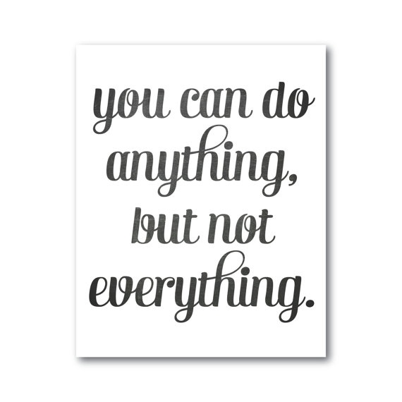 but not everything