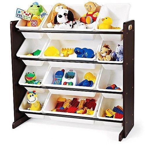 Large Kids Toy Bin Organizer Book Lego Storage Shelves