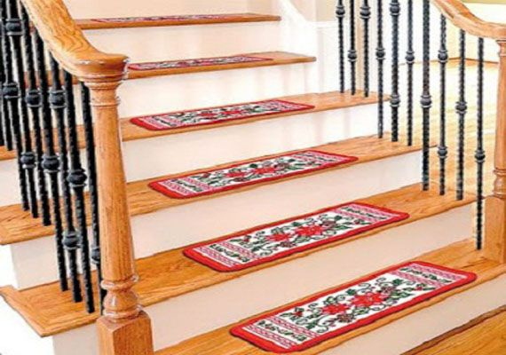 carpeted stair treads ideas staircase designs pinterest