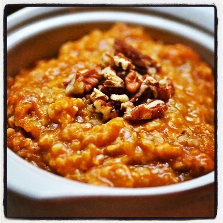 Overnight Pumpkin Spice Oatmeal in the Crock Pot