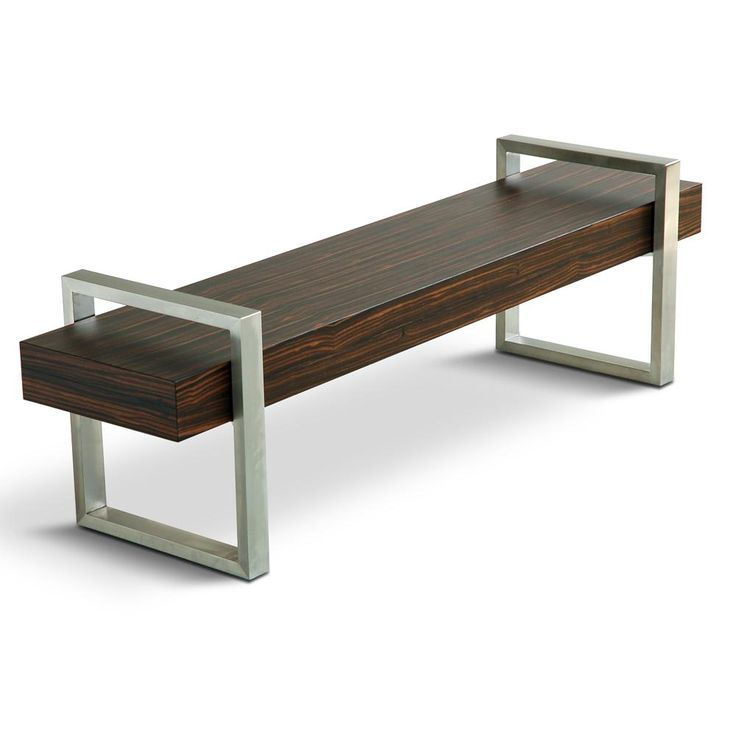 Wood And Metal Bench Pinterest