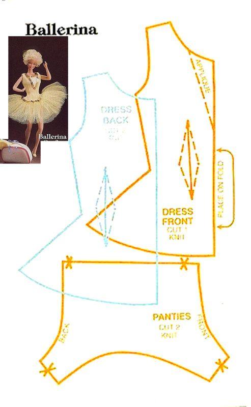 как сшить платье для Барби