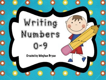 Writing Numbers 0 9 My Tpt Products Pinterest