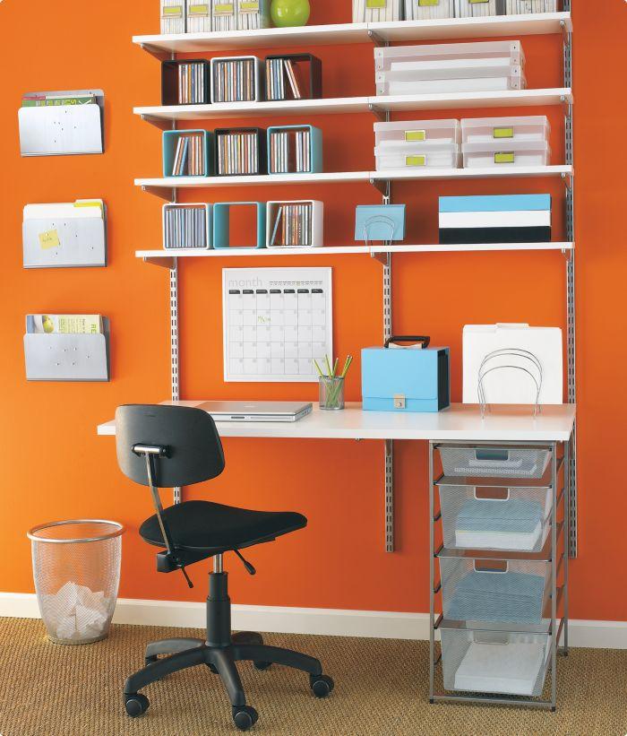 Elfa Desk And Shelves Para Los Ni Os Pinterest