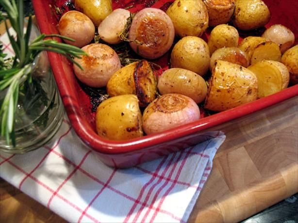 Whole Roasted Shallots and Potatoes With Rosemary - I made this with ...