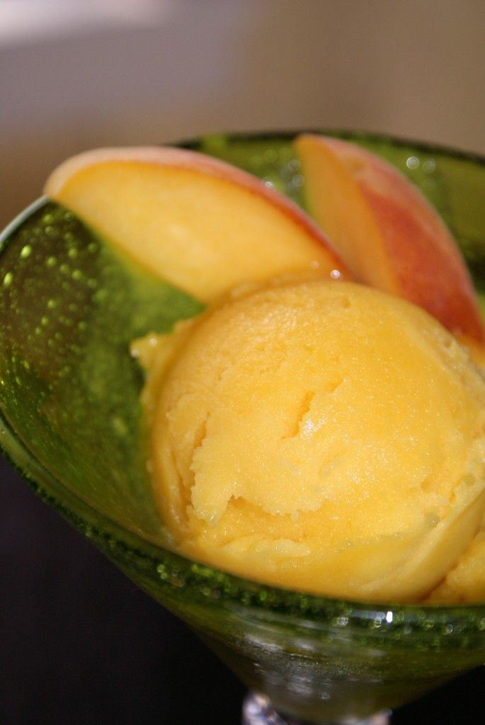 peach mango sorbet whip up more sorbet after keith s peach mango ...