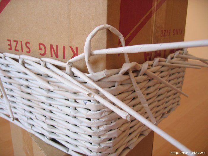 Cesta con papel periodico cester a papel peri dico cajas - Cestas de papel de periodico ...