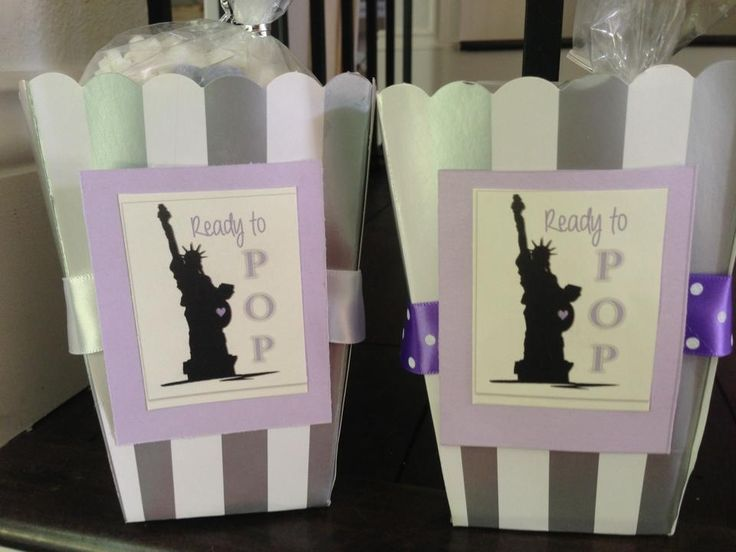 popcorn baby shower favors for nyc themed shower