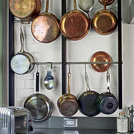 look wall mounted pot rack. Black Bedroom Furniture Sets. Home Design Ideas