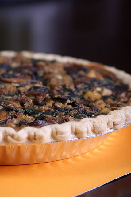 Mushroom, Soyage and Spinach Tart by Jeff and Erin's pics, via Flickr