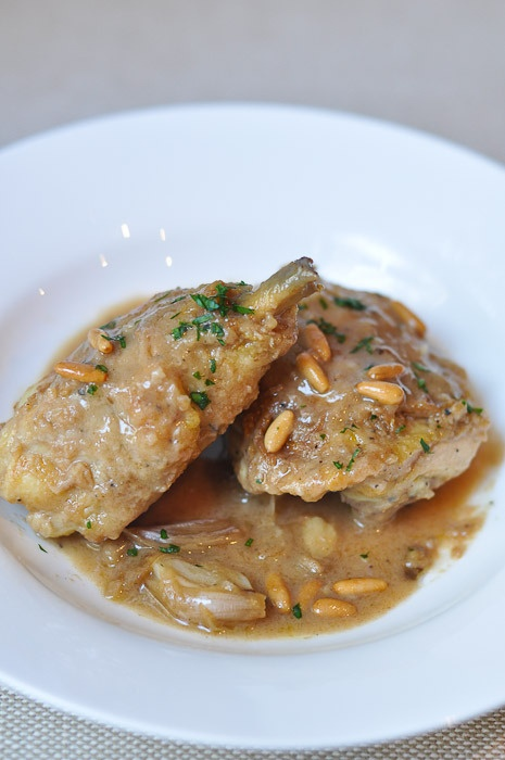 Chicken with Brandy n Pine Nuts | The Recipe Box | Pinterest