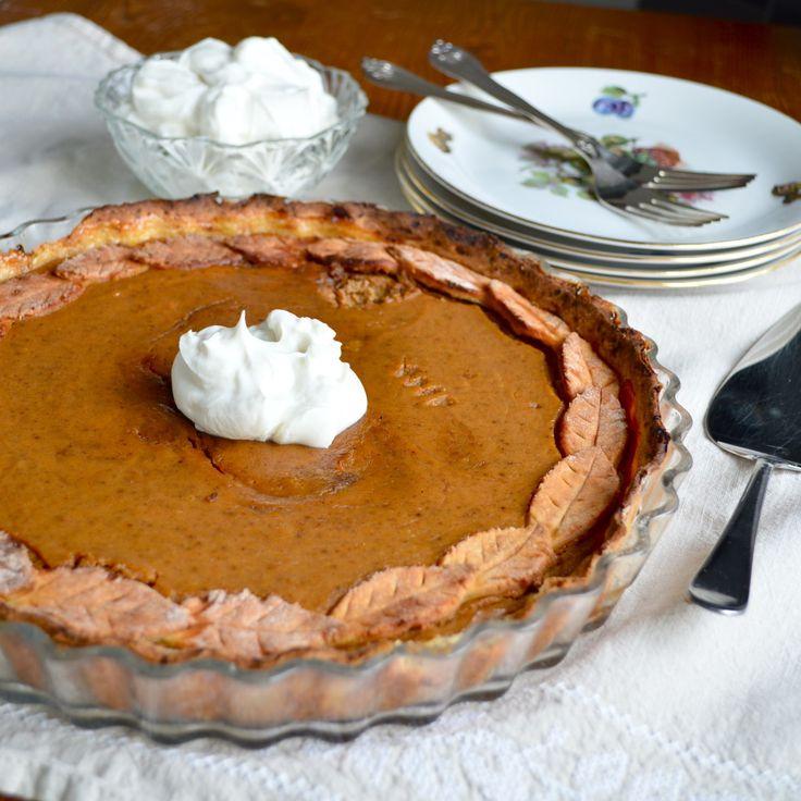 Healthy Pumpkin Pie | pies and tarts | Pinterest