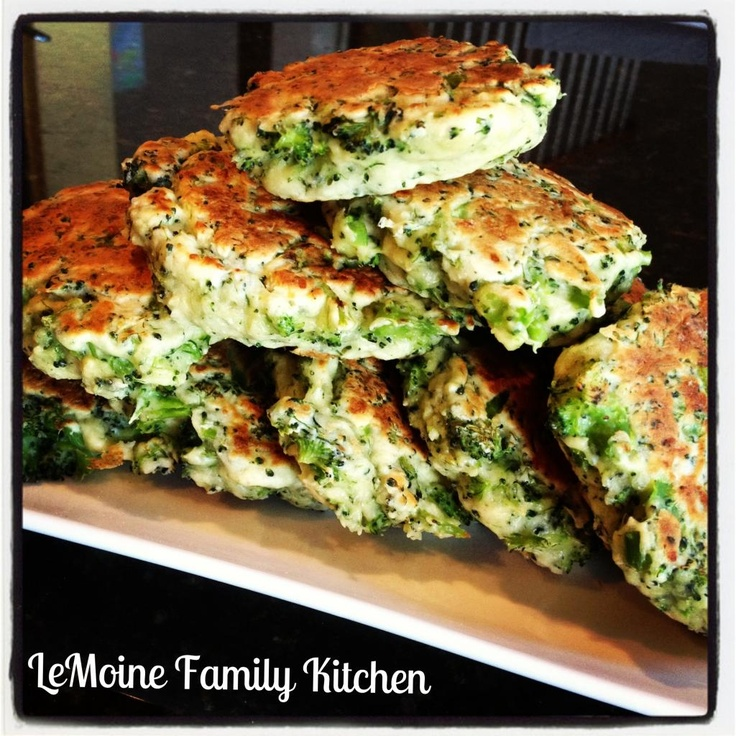broccoli and cheese cakes | yummy recipes | Pinterest