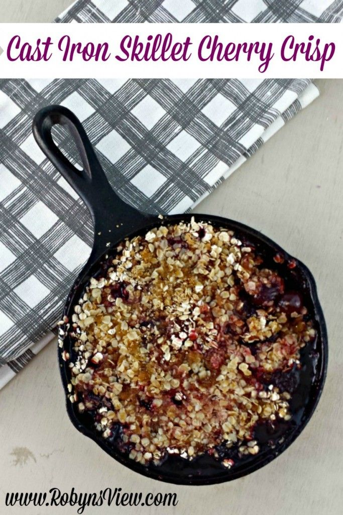 Cast Iron Skillet Cherry Crisp