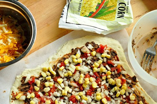 Recipe: Southwestern Pizza with Black Beans and Corn | The Kitchn