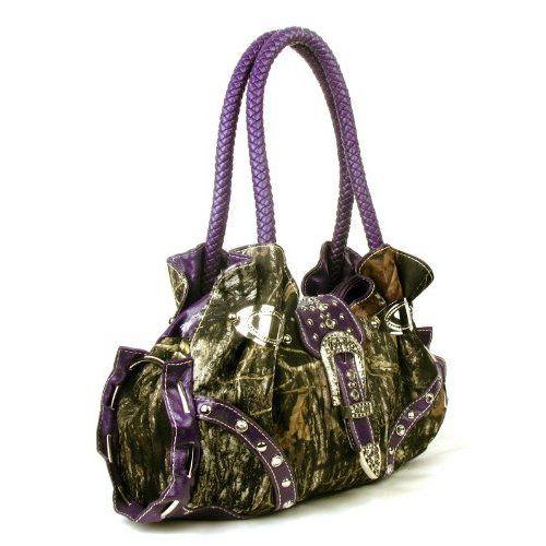 Handbags, Bling  More! Western Purple Camouflage Buckle Rhinestone ...