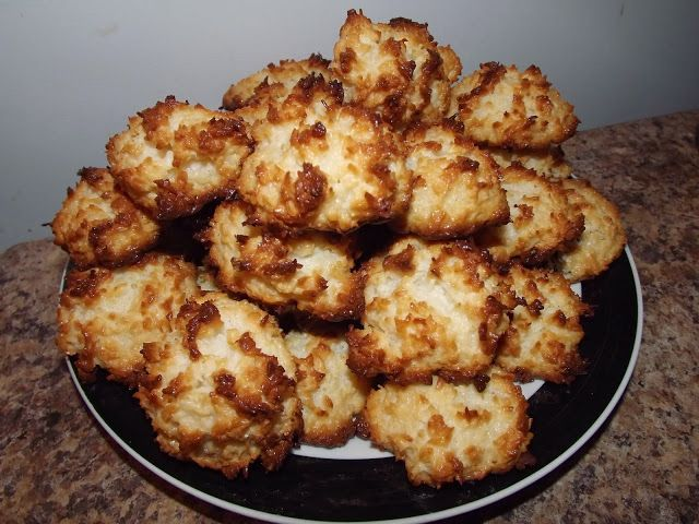 Black-and-White Coconut Macaroons Recipe — Dishmaps