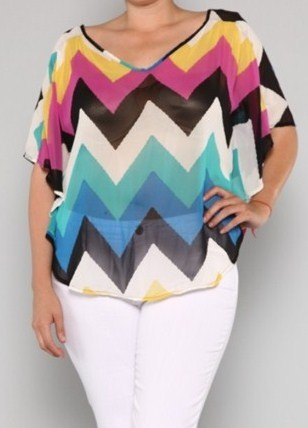 MultiColor Chevron Top 1x, 2x, 3x. $39.00. Use coupon code: new10 for