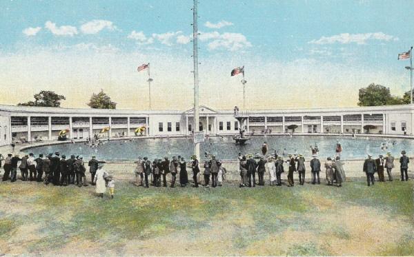 Postcard Of The Pool Idora Park Memories Pinterest