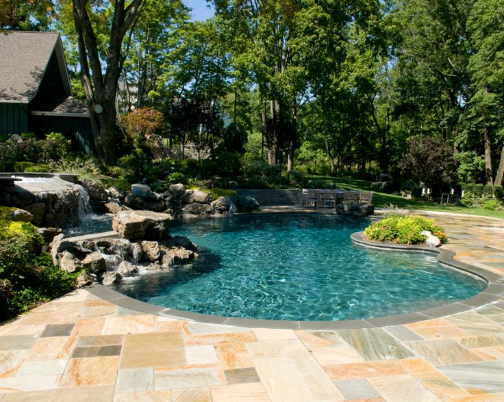Inground Pool From New Jersey A State With A Lot Of Amazing Swimming Pools Awesome Inground