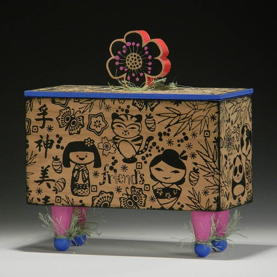 BOX Handmade Box Kawaii Box Asian Kawaii Home Decor Gift For Gir
